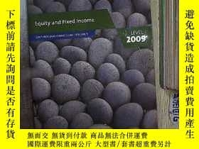 二手書博民逛書店Equity罕見and Fixed Income CFAO PROGRAM CURRICULUM . VOLUME