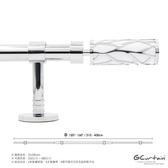310~400cm 北歐時尚金屬窗簾桿 黑/白雙色 管徑加大、受力更強 可當隔間簾使用