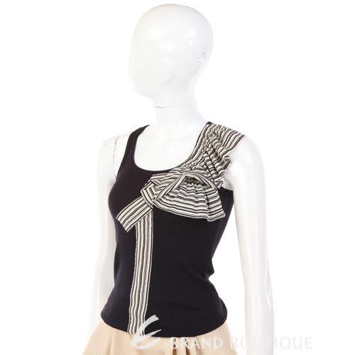 KENZO-antonio marras 黑色拼接條紋造型背心 0910171-01