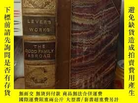 二手書博民逛書店THE罕見DODD FAMILY ABROAD 1872年 含4