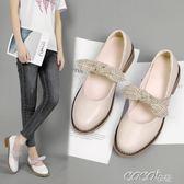 娃娃鞋 日繫淺口夏季學生粗跟單鞋女休閒百搭平底皮鞋 coco衣巷
