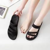 2020夏款網紅涼拖鞋女潮流室內外穿時尚可愛ins平底沙灘厚底防滑