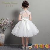 兒童禮服公主裙女童蓬蓬紗花童婚禮走秀主持人洋裝【淘嘟嘟】