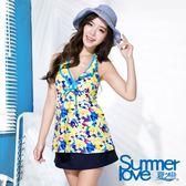 【夏之戀SUMMERLOVE】向陽風情長版三件式泳衣(S16710)