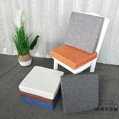 亞麻坐墊辦公室椅子榻榻米沙發墊硬海綿凳子飄窗座墊厚【時尚大衣櫥】