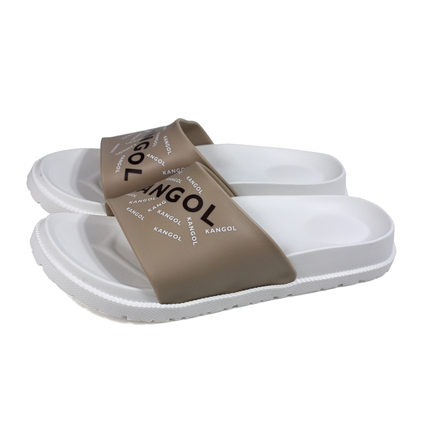 KANGOL 拖鞋 戶外 男鞋 白/卡其 6125162101 no172