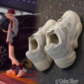 老爹鞋超火老爹鞋女秋季新款跑步韓版ulzzang原宿百搭學生運動鞋  color shop