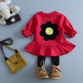 女寶寶公主裙秋裝 0-1-2-3歲女童裝洋裝長袖