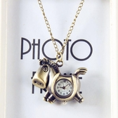 懷錶復古項鍊錶翻蓋學生女士情侶吊墜簡約男生日六一節禮物石 凱斯盾