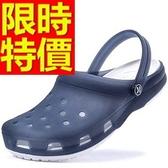 情侶款洞洞鞋(單雙)-時尚帥氣沙灘透明休閒鞋4色55w38[巴黎精品]