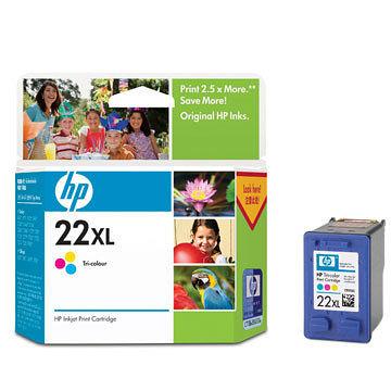 HP㊣原廠墨水匣C9352A (NO.22)XL 彩色(高容量)適用HP PSC1402/1410/DJ3920/3940/D2360/F380/OJ5610/J3608