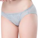 思薇爾-羽霓精靈系列M-XL蕾絲刺繡低腰三角內褲(星晨灰)
