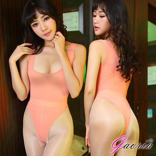 情趣內睡衣專賣 推薦商品 性感泳衣 Gaoria 萌娘神器 輕薄透明 死庫水 連身高衩情趣泳衣 橙