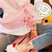 拉面丸子自制日系休閒百搭卡通可愛帆布包情侶斜跨包腰包胸包小包 居享優品