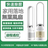 現貨-48寸新款創意型家用落地空氣循環無葉風扇超靜音濾芯空氣過濾塔扇LX