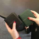 2018歐美時尚真皮短款錢包女搭扣卡位皮夾超薄軟頭層牛皮錢夾簡約