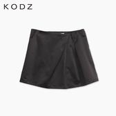 東京著衣【KODZ】打褶挺料A字短裙-XS.S.M(6015270)