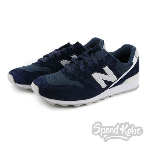 New Balance 慢跑鞋 996 海軍深藍 麂皮 運動 休閒 女鞋 WR996CGN【Speedkobe】