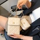 手機包 高級感菱格鏈條包包2021新款潮手機包時尚網紅ins流行單肩斜挎包 ww