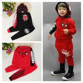 長袖套裝 蜘蛛人連帽家居服套裝 嬰幼兒童裝 SK163 好娃娃