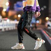 男褲子夏季百搭哈倫褲韓版潮流學生收口運動褲寬鬆休閒九分工裝褲