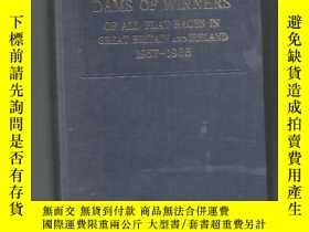 二手書博民逛書店【英文原版】DAMS罕見OF WINNERS OF ALL FLAT RACES IN GREAT BRITAIN