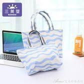 手提媽咪包保溫背奶包拎帶飯便當包多功能媽媽包母嬰包防水 艾美時尚衣櫥
