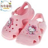 《布布童鞋》HelloKitty凱蒂貓粉色超輕量兒童護趾涼鞋(15~20公分) [ C9D188G ]