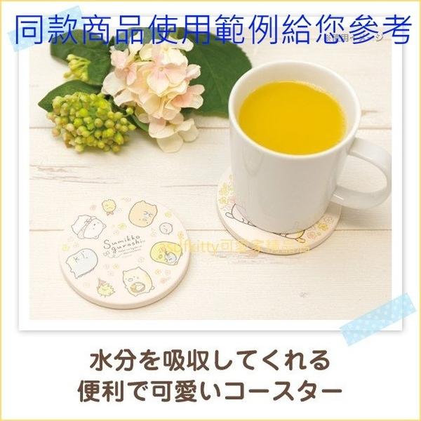 asdfkitty可愛家☆日本san-x角落精靈/角落生物花園 圓型陶瓷吸水杯墊-日本正版商品