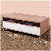 【水晶晶家具/傢俱首選】CX1352-3 肯詩特4呎木心板烤白雙色大茶几