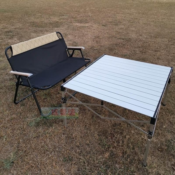 【JIS】A105 宅配免運 雙人椅(含椅套) 休閒椅 露營椅 摺疊椅 情人椅 沙發椅 輕鬆折疊長椅