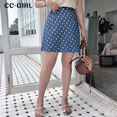 中大尺碼  波點A字短裙~共兩色 - 適XL~4L《 68385HH 》CC-GIRL
