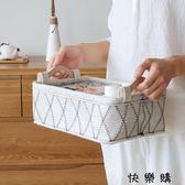 好康618 日式毛氈收納筐手提布藝整理籃桌面