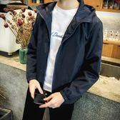 風衣男 ~男士中年夾克商務休閑中短款寬松爸爸春秋新款薄款風衣外套裝。 小宅女