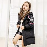 新款兒童羽絨服女童中長款加厚冬裝中大童外套