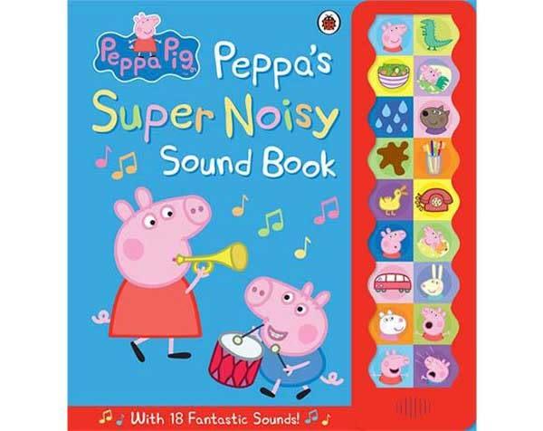 Peppa Pig:Peppa''s Super Noisy Sound Book 佩佩豬吵鬧的一天 精裝音效故事書