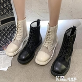 馬丁靴-馬丁靴女春夏季薄款英倫風2021新款百搭短靴網紗透氣夏天鏤空涼鞋