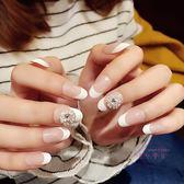可拆卸指甲貼片可穿戴指尖魔盒假指甲成品中長款指甲蓋正韓全套潮 七夕情人節