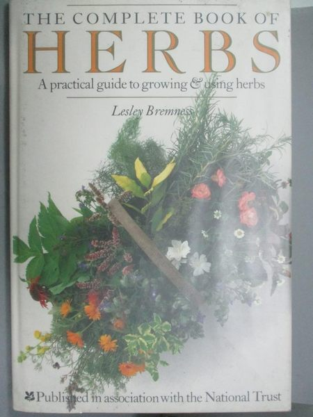 【書寶二手書T1/養生_ZFM】Complete Book of Herbs Hb (The complete book)_Lesley Bremness