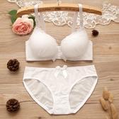 文胸聚攏小胸性感無鋼圈上托加厚調整蕾絲少女胸罩收副乳內衣套裝