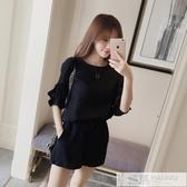 夏季時尚套裝韓版一套衣服2020新款大碼胖mm女裝顯瘦短褲兩件套女 韓慕精品