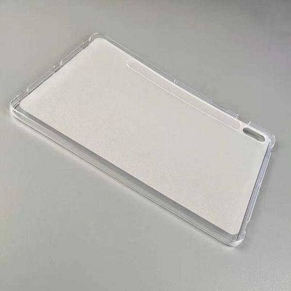 【萌萌噠】三星 Tab S7 (11吋) / Tab S7+ (12.4吋) 還原真機 柔軟輕薄款 全包透明磨砂矽膠軟殼 平板殼
