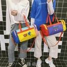 出門旅行包女手提健身包韓版潮短途可愛小行李包大容量衣服包輕便 現貨快出