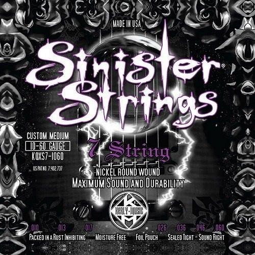 ☆唐尼樂器︵☆ Kerly Strings Sinister 系列冰火弦 KQXS-1060 (10-60) 美製電吉他弦(7弦/七弦用)