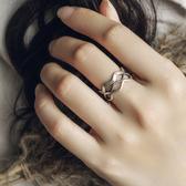 多層復古925銀戒指小星星個性寬中戒食指環手飾/設計家