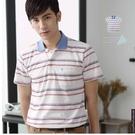 【大盤大】(P30503) 男 短袖POLO衫 台灣製 口袋保羅衫 橫條紋休閒衫 反領透氣 網眼【2XL號斷貨】