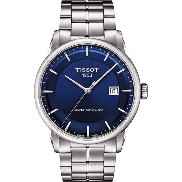 TISSOT 天梭 LUXURY 動力儲存80機械手錶-藍x銀/41mm T0864071104100