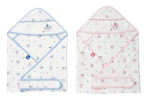 【奇買親子購物網】酷咕鴨KU.KU. 春夏印花包巾(藍色/粉色)