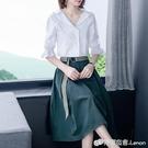 春秋女裝新款女神范名媛職業洋裝子襯衫兩件套裝氣質衣服夏