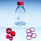 《PYREX》廣口血清試藥瓶 紅蓋 Bottle, Media, Screw Cap, GL45 High Temp Cap
